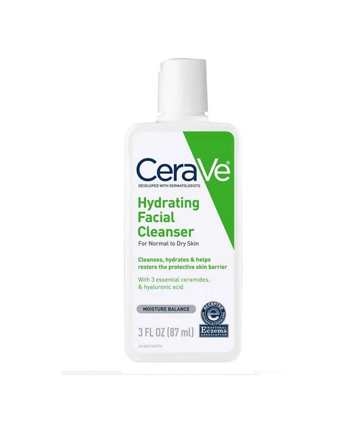 CeraVe Hydrating Facial Cleanser for Normal to Dry Skin – 3oz