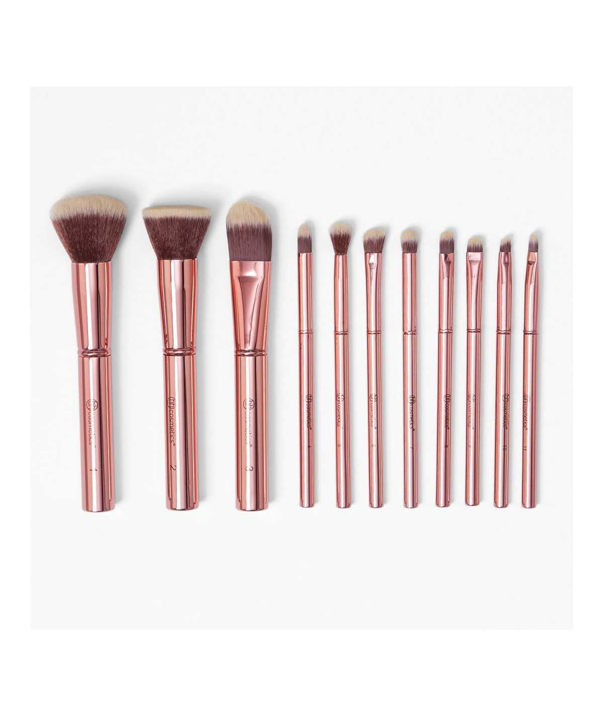 Bh Cosmetics Metal Rose - 11 Piece Brush Set
