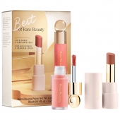 Rare Beauty by Selena Gomez Best of Rare Beauty Lip & Cheek Mini DuoA limited-edition, travel-size set of bestselling Rare Beauty liquid lipstick and liquid blush for a fresh, easy look on the go.Airy and lightweight, Soft Pinch Matte Liquid Blush in Bliss, a nude pink, delivers a soft, healthy flush that blends like a dream and layers beautifully over other formulas. With Gratitude Dewy Lip Balm in Thankful, a nude mauve, hydrates lips all day with sheer, buildable color and dewy shine.This Set Contains: - 0.026 oz/ 0.75 g With Gratitude Dewy Lip Balm in Thankful (nude mauve with a dewy finish) - 0.11 oz/ 3.2 mL Soft Pinch Liquid Blush in Bliss (nude pink with a matte finish)