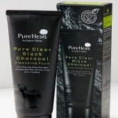 PUREHEALS Pore Clear Black Charcoal Cleansing FoamA foaming charcoal cleanser that refreshes your skin by removing oil and other impurities.Now available with us at www.beautyholicuae.com